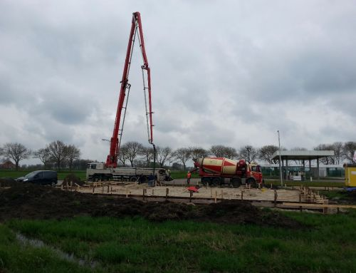 Stellen en storten betonfundering